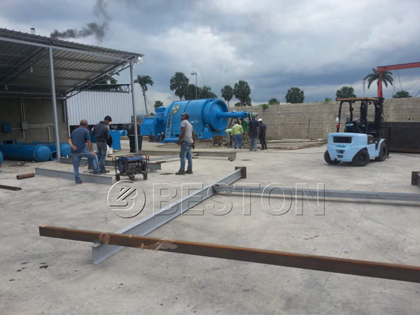 Pyrolysis Equipment Installation Site In Dominica