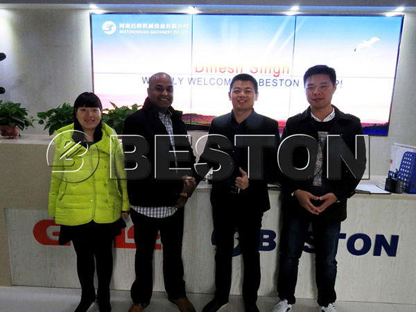 The South African Customer Came to See Beston Continuous Pyrolysis Equipment
