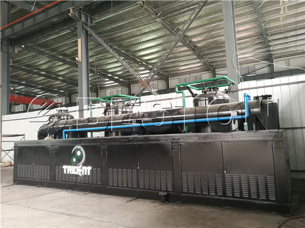 Beston BLL-30 continuous pyrolysis plant to South Africa