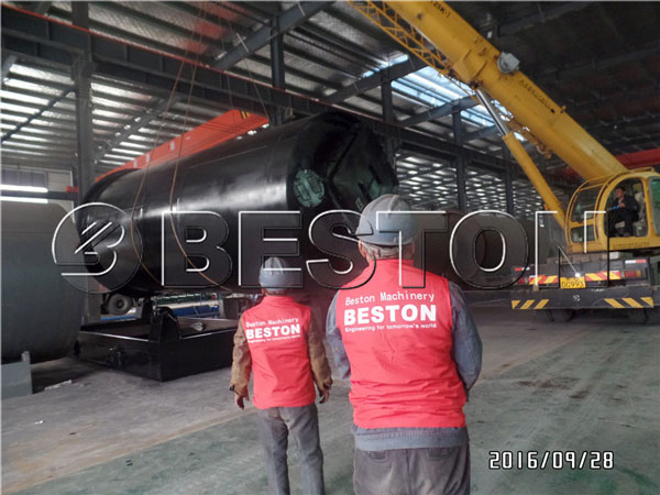 Beston plastic pyrolysis machine to South Korea
